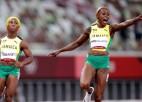 100m sprintā Jamaikas dāmām visas trīs medaļas, Polija triumfē jauktajā stafetē