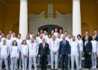 """Prezidents Levits olimpiskajiem laureātiem: """"Šīs medaļas ir visai Latvijai"""""""