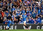 Leģendārajā ''Old Firm'' derbijā ''Rangers'' trešo reizi pēc kārtas uzveic ''Celtic''