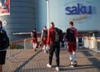 Video: Latvijas volejbolisti ieradušies Tallinā uz Eiropas čempionāta finālturnīru
