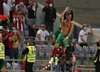 Melnkalne izrauj punktu pret Turciju, Ronaldu kļūst par rezultatīvāko <i>izlašnieku</i>