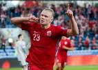 Latvijas izlasei pretiniekos Norvēģija un futbola jaunā superzvaigzne Holanns