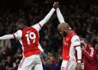 Lakazets izskaņā sarūgtina Vjerā un izrauj ''Arsenal'' neizšķirtu pret ''Crystal Palace''