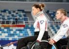 Pirmo pasaules čempionāta dienu ratiņkērlinga izlase noslēdz ar uzvaru