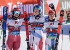 Simtdaļu cīņās sezonu ar uzvaru milzu slalomā iesāk Odermats