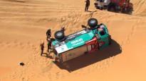Video: Vairāki smagie auto apgāžas Dakaras smilšu slazdos
