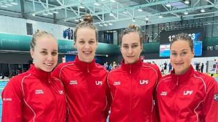 Latvijas dāmu kvartets Eiropas čempionātā peldēšanā labo valsts rekordu 4x100m