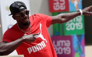 Leģendārais sprinteris Bolts viesojas Rīgā