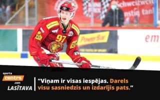 Skeletons nepatika: Tomasa Dukura dēls Darels ceļā uz profesionālo hokeju