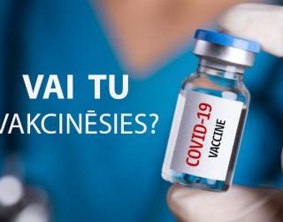 Aptauja: Vai es vakcinēšos pret Covid-19?