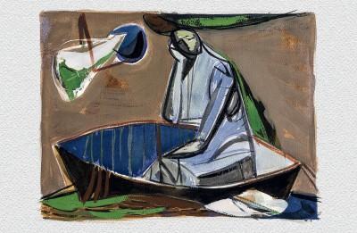"""Apgāds """"Mansards"""" izdod Ingrīdas Burānes un Māra Branča grāmatu """"Trešā atgriešanās"""" par mākslinieku Osvaldu Rožkalnu"""