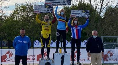 Pētersonei otrā, Babrim sestā vieta UCI līmeņa BMX sacensībās Itālijā
