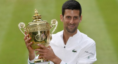 """Džokovičs ar 20. """"Grand Slam"""" titulu atkārto Federera un Nadala sasniegumu"""