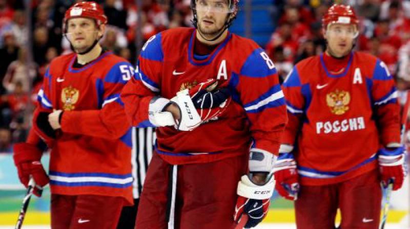Krievijas hokejistiem šī olimpiāde ir beigusies Foto: AFP/Scanpix