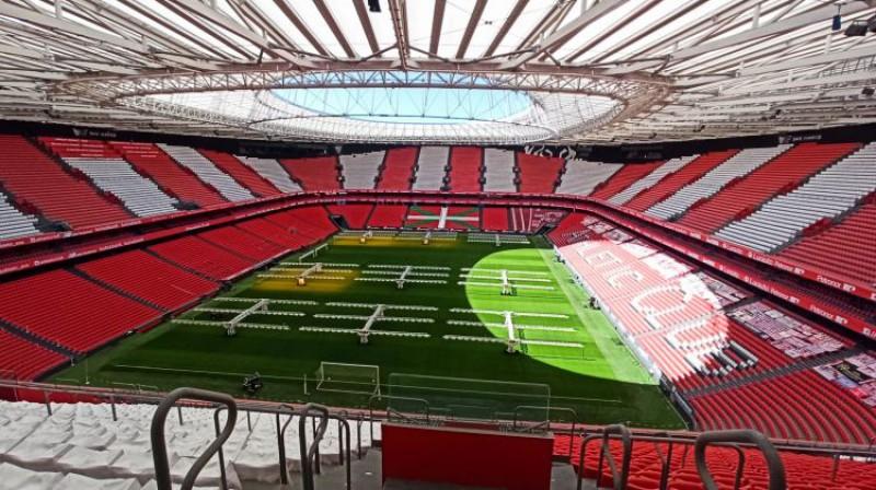 """San Mames"" stadions Bilbao. Foto: Reuters/Scanpix"