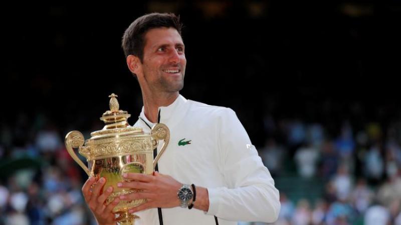 2019. gadā Vimbldonas vienspēļu titulus izcīnīja Novaks Džokovičs un Simona Halepa. Foto: Reuters/Scanpix