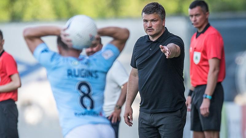 """Andris Riherts pirmo reizi vadīs """"Riga"""" cīņā pret savu lolojumu """"Metta"""". Foto: Zigismunds Zālmanis"""