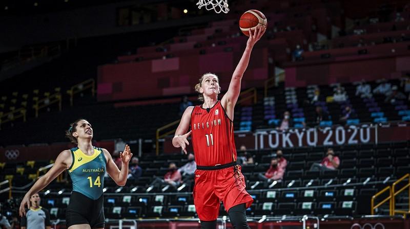 Emma Mēsemana: 32 punkti olimpiskā turnīra debijas spēlē. Foto: FIBA