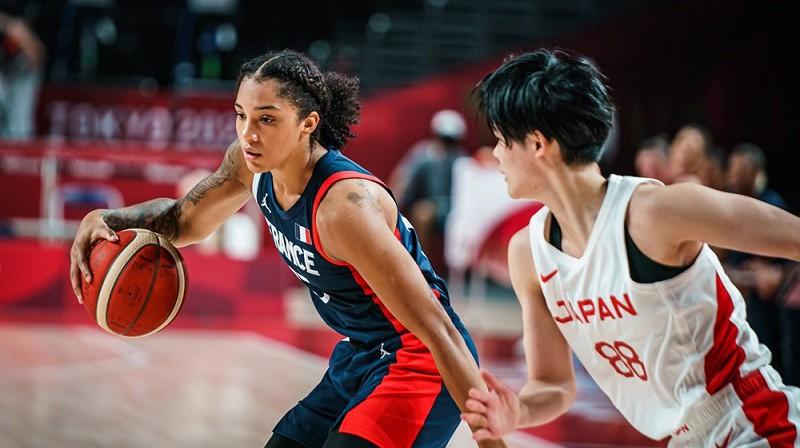 Gabija Viljamsa spēlē pret Japānu. Foto: FIBA