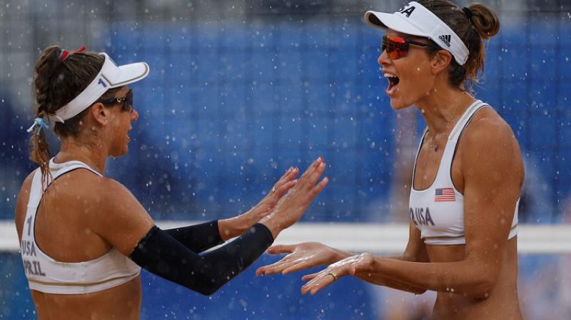 Eiprila Rosa un Aliksa Klainmena. Foto: Reuters/Scanpix