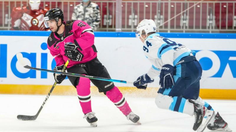 Nikolajs Jeļisejevs ceturtdien iemeta jau savus desmitos vārtus sezonā. Foto: Dinamo Rīga