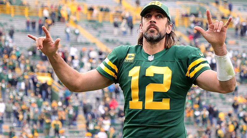 """Ārons Rodžerss kaldināja """"Packers"""" sesto uzvaru pēc kārtas. Foto: AFP/Scanpix"""