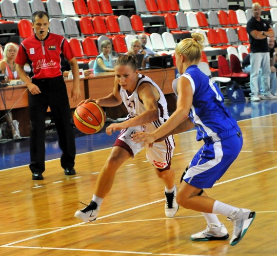 Latvijas basketbolistes uzvar Bukarestē