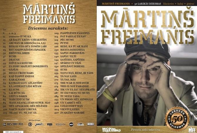 Mārtiņa Freimaņa labāko dziesmu TOP10