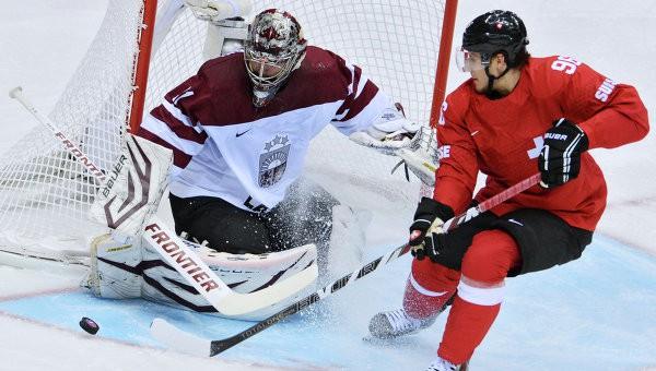 Latvija pret Šveici pasaules čempionātos