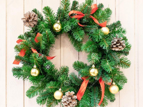 Padomi, kā izgatavot Ziemassvētku durvju vainadziņu
