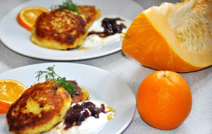 Ķirbju un kartupeļu pankūkas