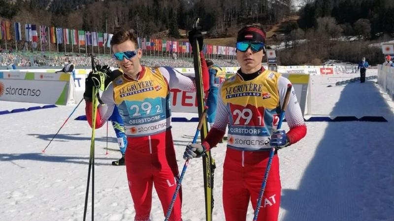 Pārmaiņām bagātā stafetē uzvar Norvēģija, Latvija debijā noturas līdz trešā posma vidum