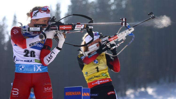Bendikas cerības aprok šaušana stāvus, Ekhofa turpina dominēt sprintā