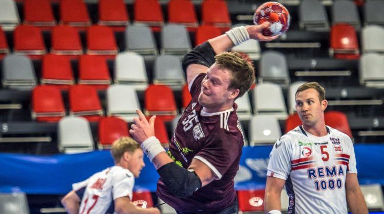 Latvijas handbolisti Valmierā mēģinās atlikt Norvēģijas kvalificēšanos