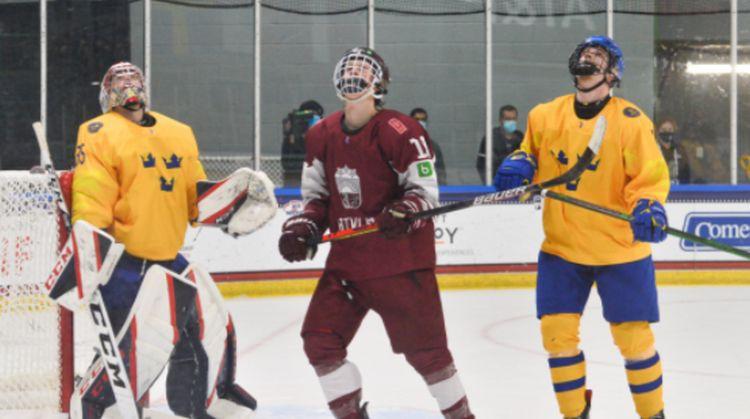 Latvijas U18 izlase pasaules čempionātu pabeidz ar septiņiem ielaistiem vārtiem