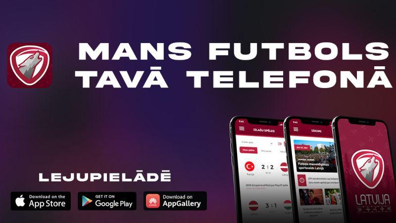 """Latvijas futbola sekotājiem radīta mobilā aplikācija """"Mans Futbols"""""""