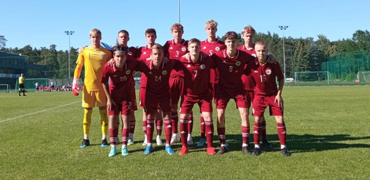 Latvijas U17 izlase Baltijas kausu sāk ar pārliecinošu uzvaru pār Igauniju